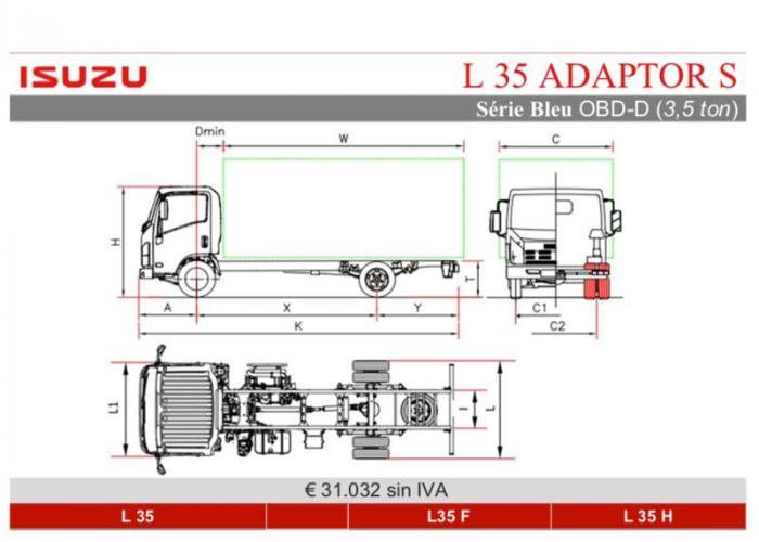 Fichas técnicas y Listado precios Isuzu L35 Adaptor